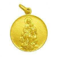 Medalla virgen de la consolación oro y plata