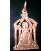 Medalla virgen del carrascal en oro y plata