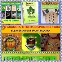 Coleccion de 120 Libros con Temas y Tratados IFA para BABALAWO