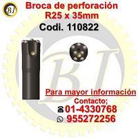 Venta de broca de perforacion minera r25 x 35mm 110822