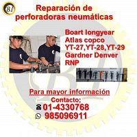 Reparacion de perforadoras neumaticas