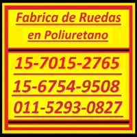 Ruedas en Poliuretano 15-6754-9508 no.. a.. si.. Ruedas para Autoelevadores 15-7015-2765