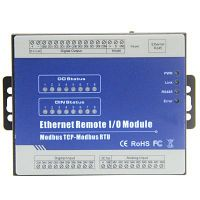 Modbus TCP Ethernet Remote IO Module RS485 to RJ45 Converter AIN+DIN+relay output