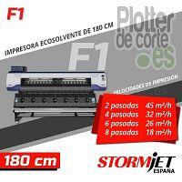 Plotter de impresion ecosolvente profesional StormJet F1 alta produccion calidad PROMOCION ESTE MES