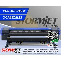 Nueva impresora ecosolvente gran formato gigantografia photocall StormJet SJ320 de 320 cms de ancho