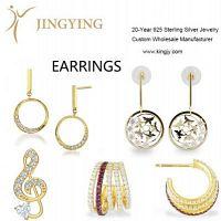 Anillo de plata esterlina chapado en oro collares pulseras aretes joyería personalizada