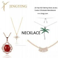 Plata esterlina colgante collar aretes anillo conjunto de joyas diseño personalizado al por mayor